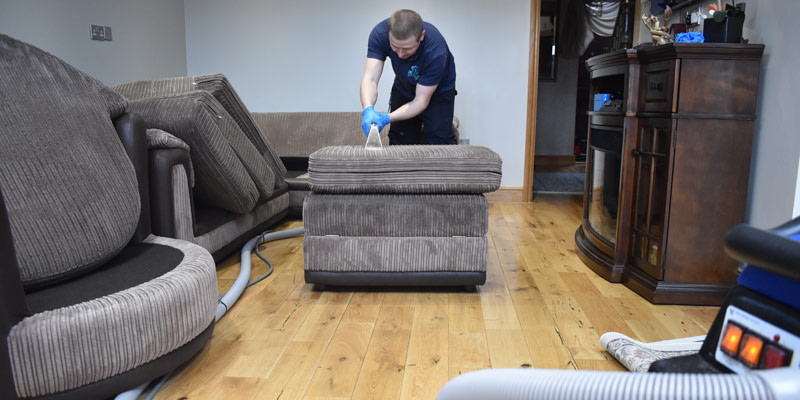 L-shaped 5 Seater Sofa Cleaning London